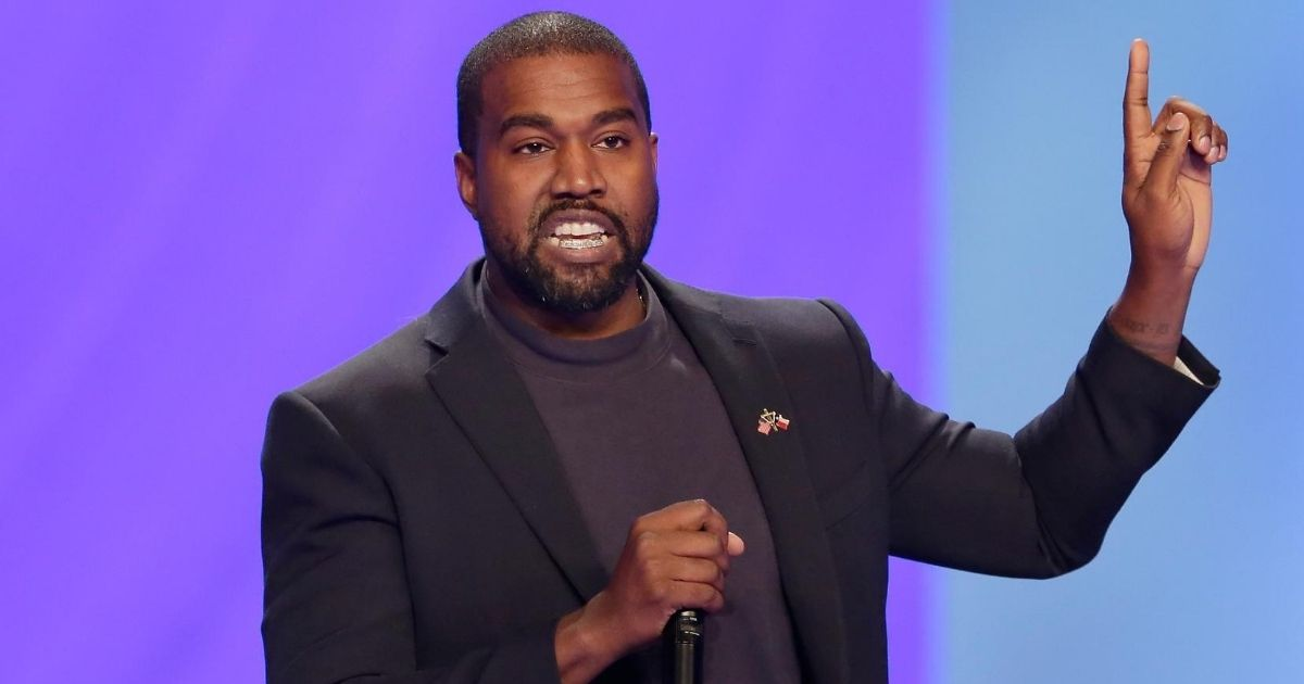 In this Nov. 17, 2019, file photo, Kanye West answers questions during a service at Lakewood Church in Houston.