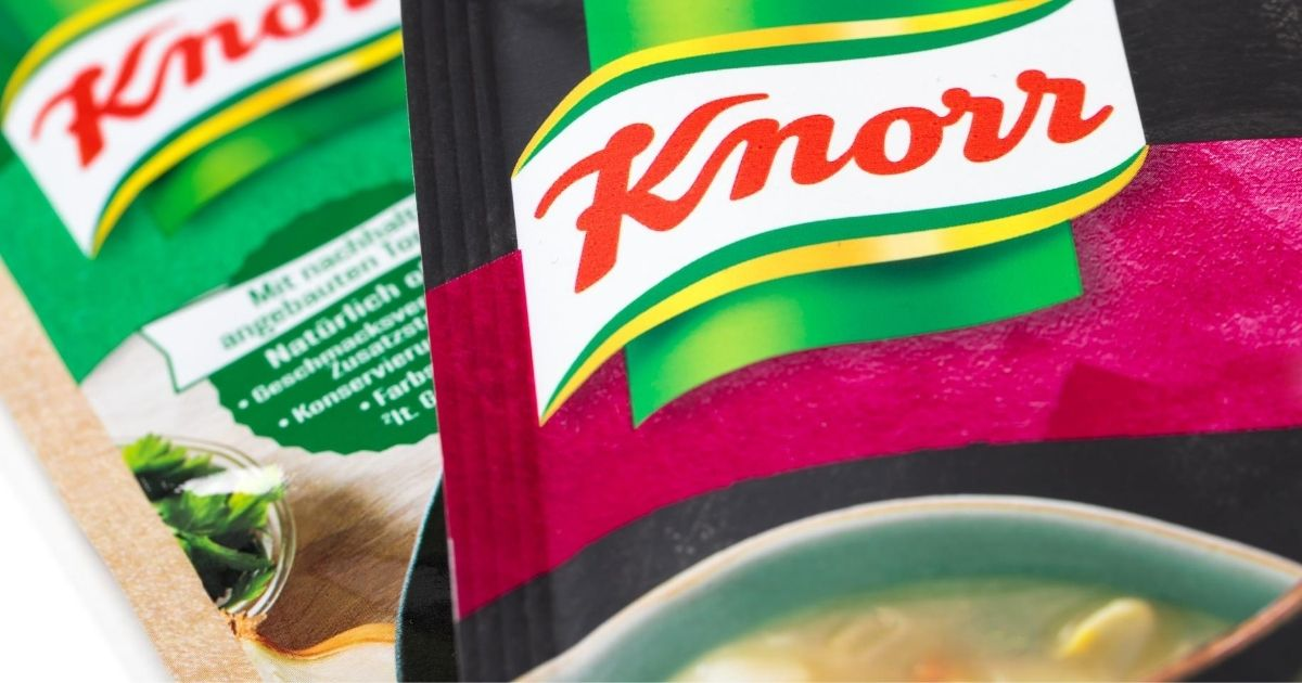 Knorr packaging is seen in Germany.
