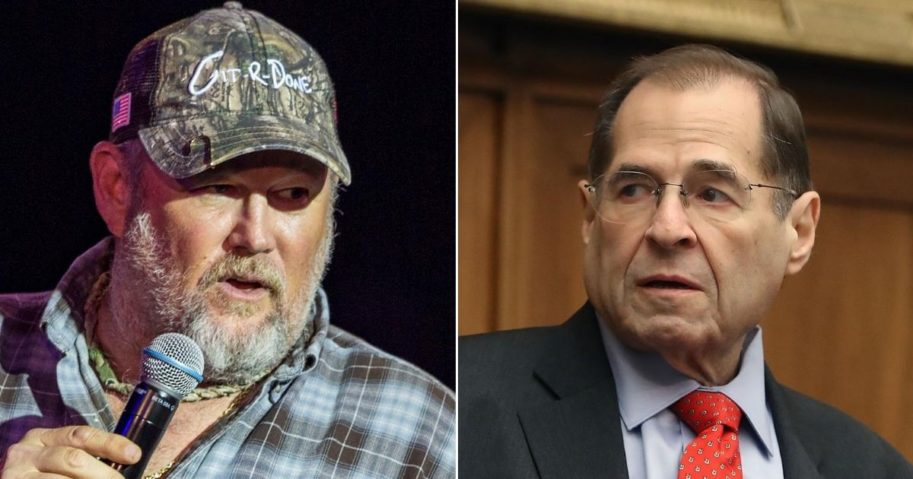 Comedian Larry the Cable Guy, left, and Democratic Rep. Jerrold Nadler of New York, right.