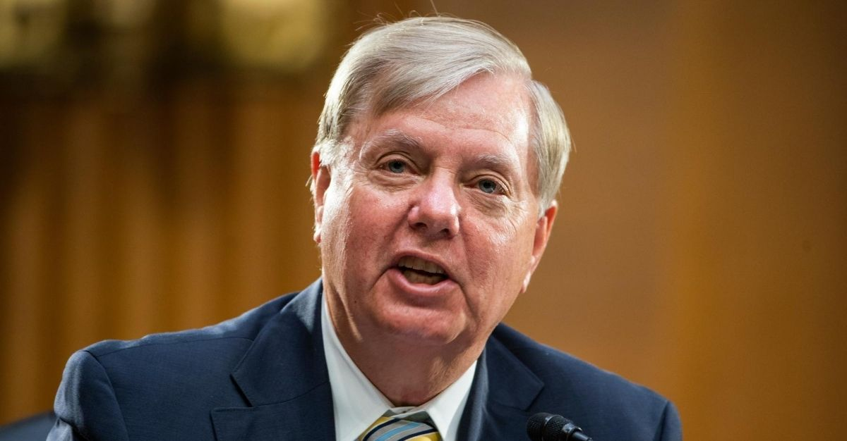 Republican Sen. Lindsey Graham of South Carolina is pictured during a Senate Foreign Relations committee hearing on July 20, 2020.