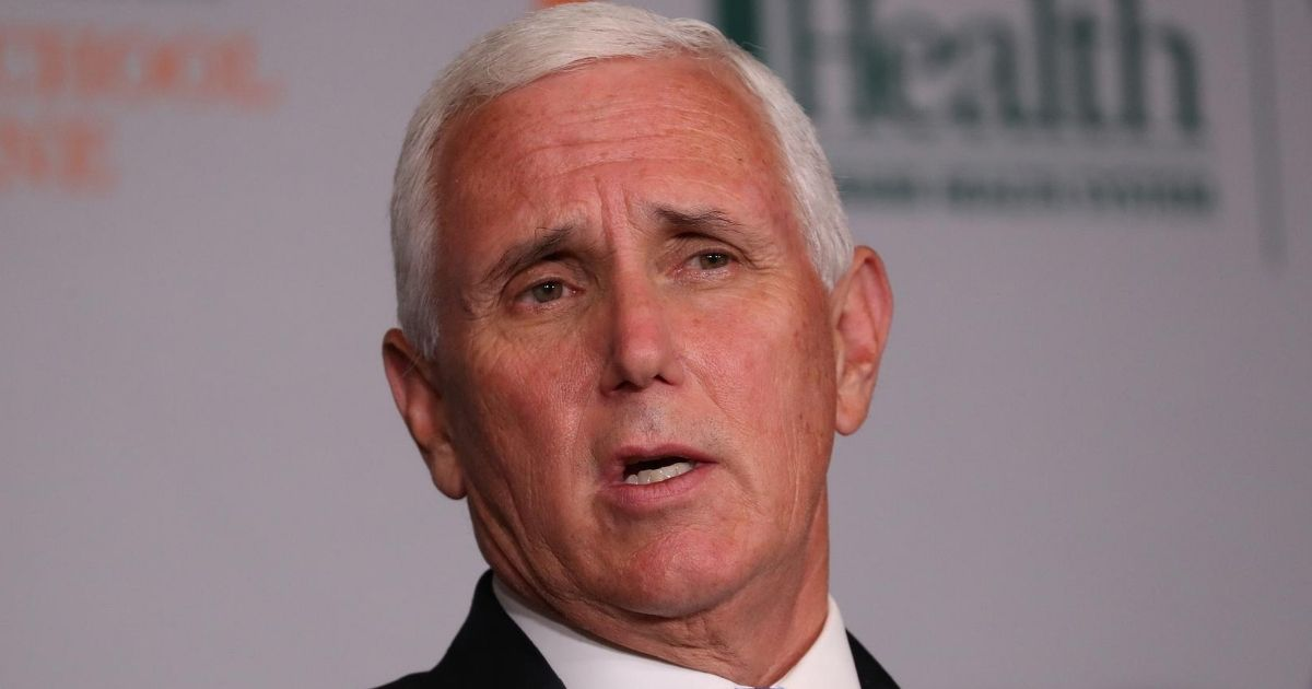 Vice President Mike Pence speaks during a news conference at the University of Miami Miller School of Medicine in Miami on July 27, 2020.