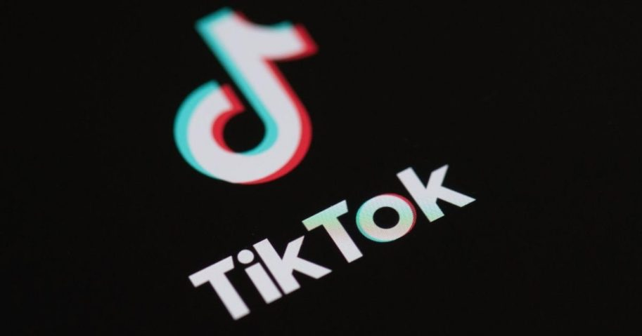 The logo of the social network application Tik Tok is seen on the screen of a phone in Paris on May 27, 2020.