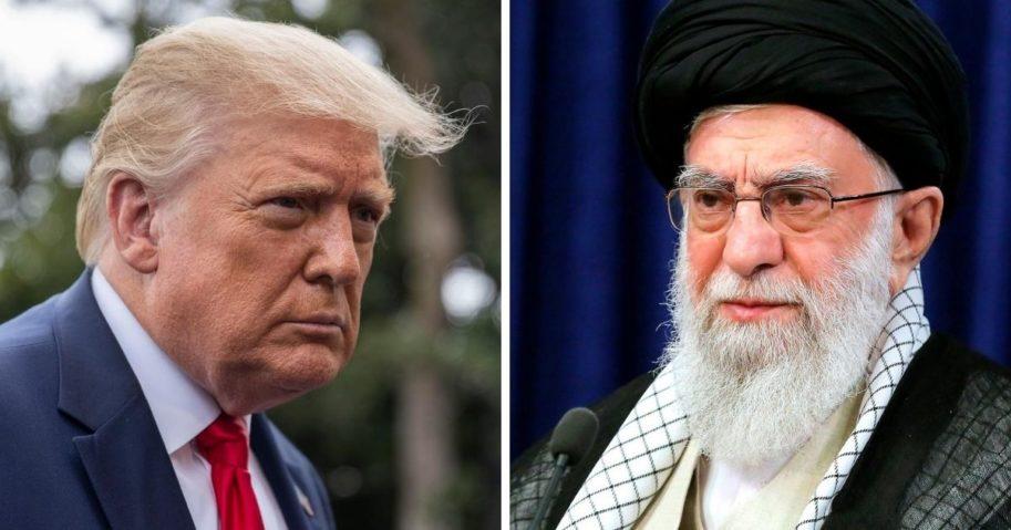 President Donald Trump, left, and Iranian Supreme Leader Ali Khameini, right.