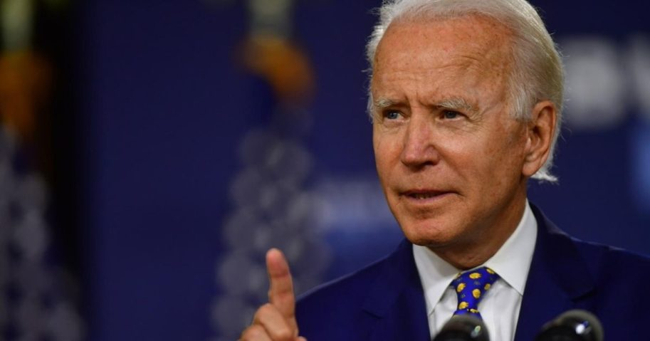 Former Vice President Joe Biden speaks Tuesday at the William Hicks Anderson Community Center in Wilmington, Delaware.