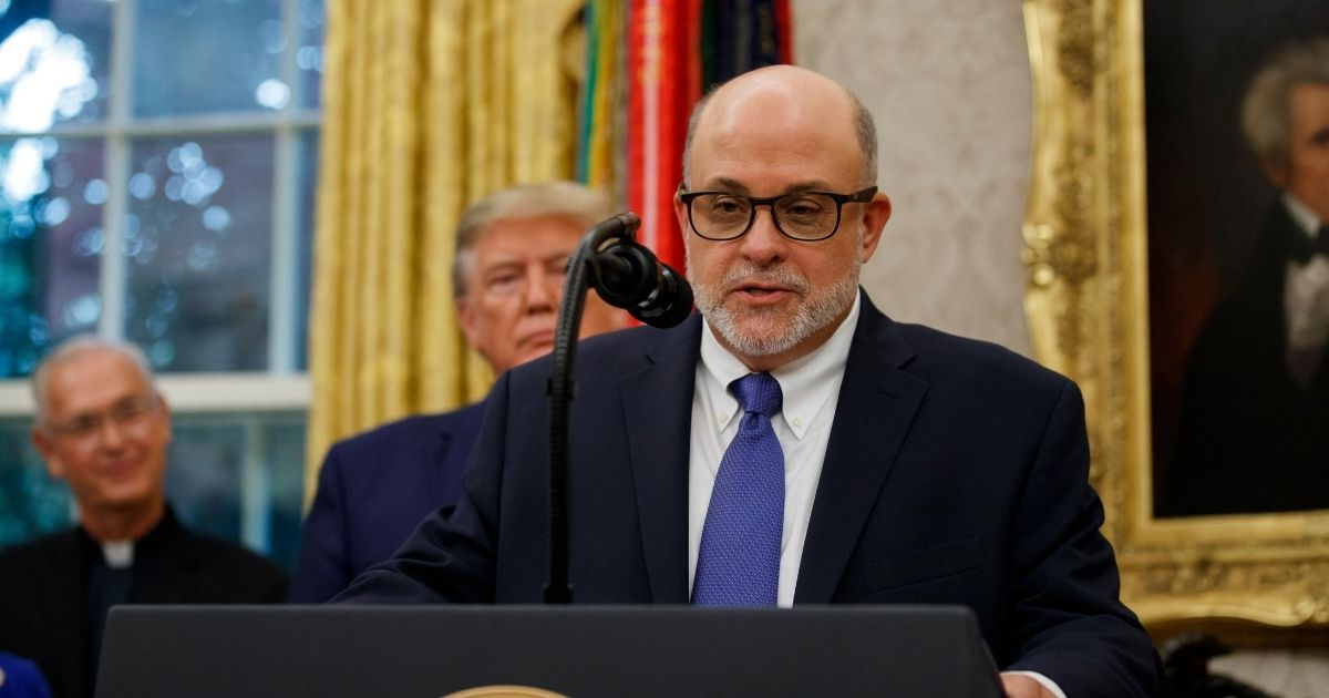 Conservative radio host and author Mark Levin is pictured in a file photo from the White House in October 2019.