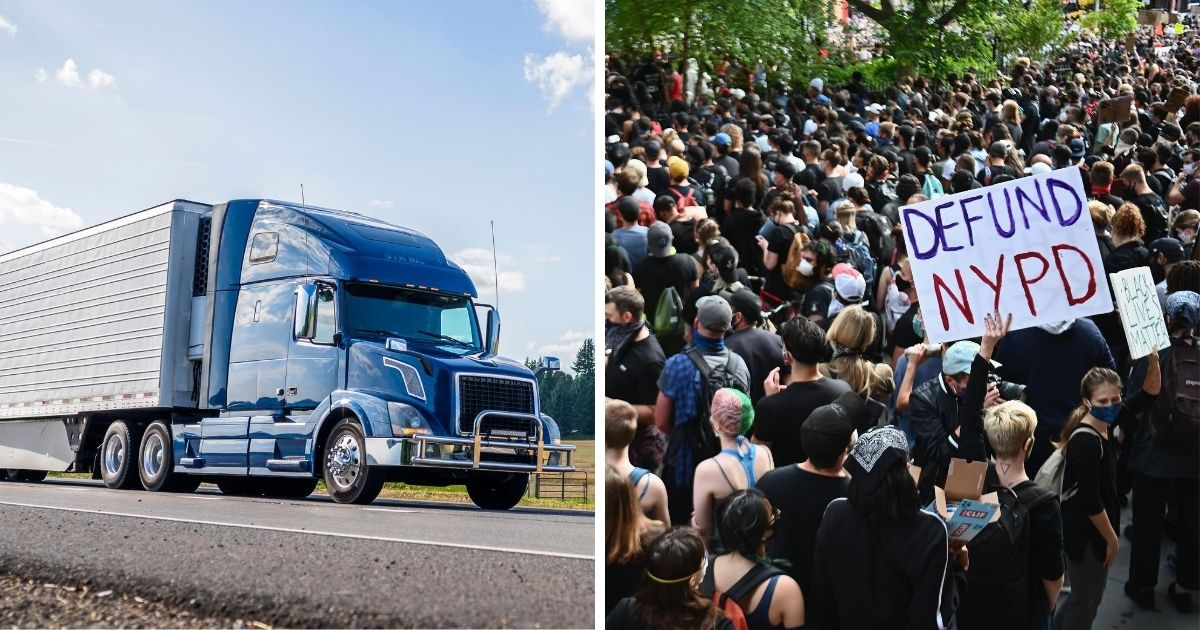 Trucking Company Owner Warns: 'We're Not Going' to States That Defund Police