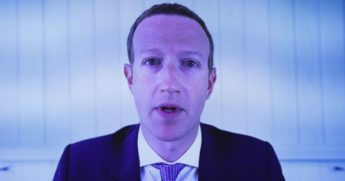 Facebook CEO Mark Zuckerberg testifies via video conference during an Antitrust, Commercial and Administrative Law Subcommittee hearing on Capitol Hill on July 29, 2020, in Washington, D.C.