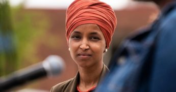 Rep. Ilhan Omar, pictured at a campaign event Wednesday.