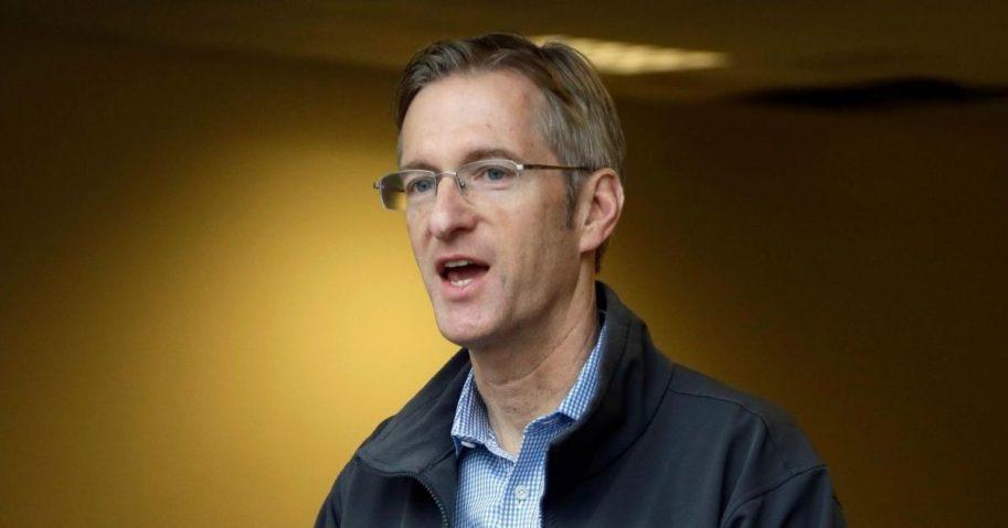 Portland Mayor Ted Wheeler speaks during a news conference in Portland, Oregon, on Jan. 17, 2017.