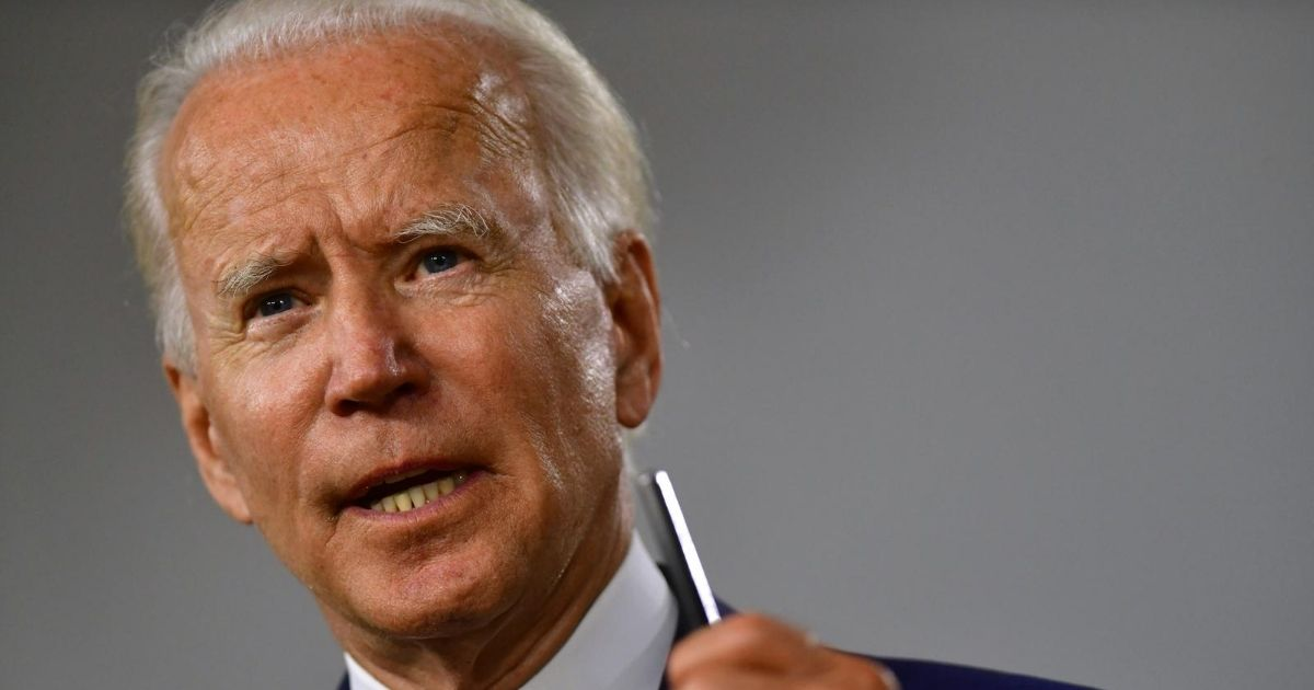 Former Vice President Joe Biden, the presumptive Democratic presidential nominee, delivers a speech at the William Hicks Anderson Community Center on July 28, 2020, in Wilmington, Delaware.