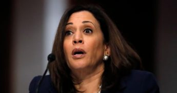 Democratic Sen. Kamala Harris of California speaks at a hearing of the Judiciary Committee on June 11, 2020, in Washington, D.C.