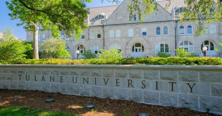 Tulane University in New Orleans is pictured above.
