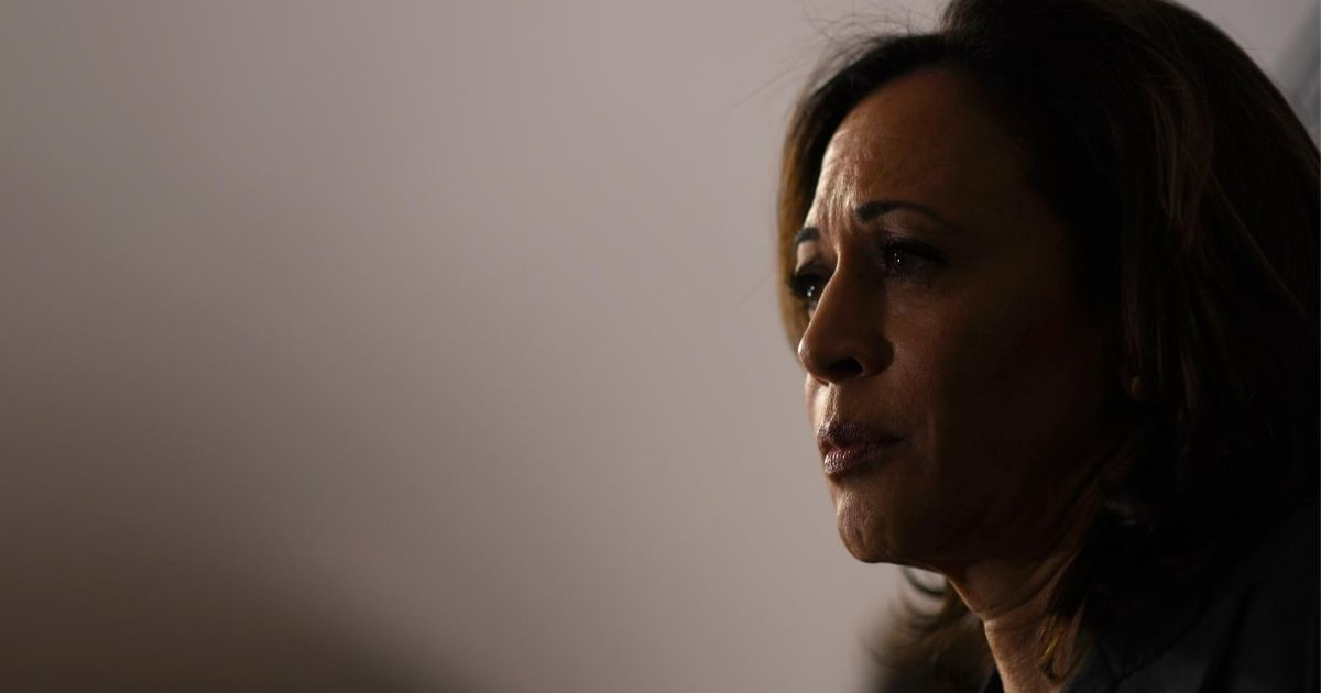 Democratic Sen. Kamala Harris of California speaks to the media during a town hall at Eastern State Penitentiary on Oct. 28, 2019, in Philadelphia.