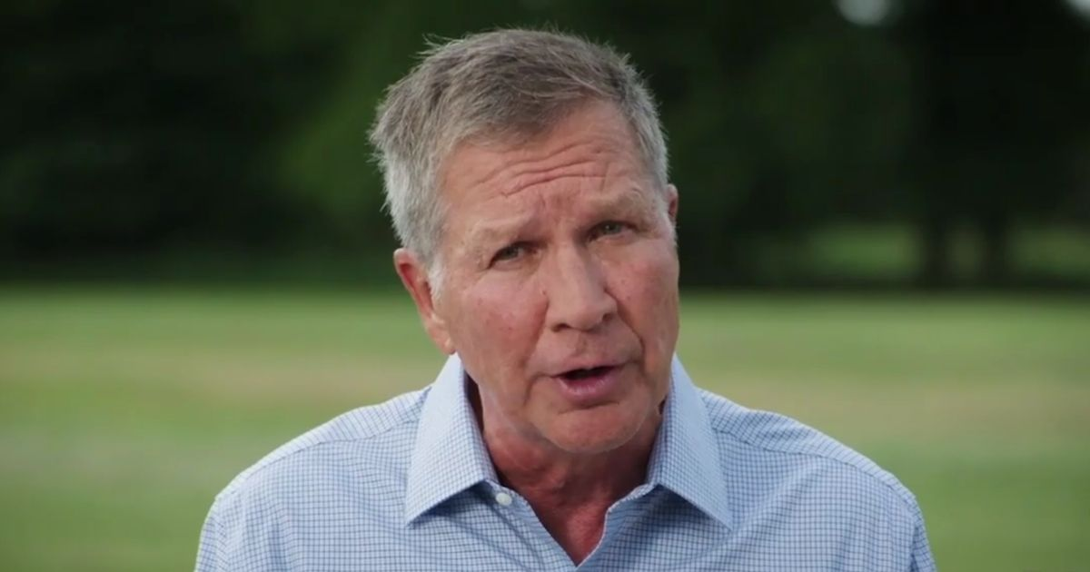 Former Republican Ohio Gov. John Kasich speaks at the 2020 Democratic National Convention.