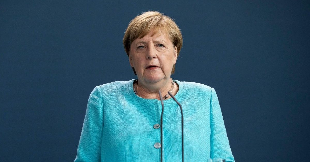 German Chancellor Angela Merkel speaks to the media following a virtual meeting of the European Council during the coronavirus pandemic on Aug. 19, 2020, in Berlin.