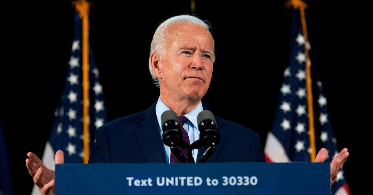 Democratic presidential candidate Joe Biden delivers remarks after meeting with Pennsylvania families who have benefited from the Affordable Care Act on June 25, 2020, in Lancaster, Pennsylvania.