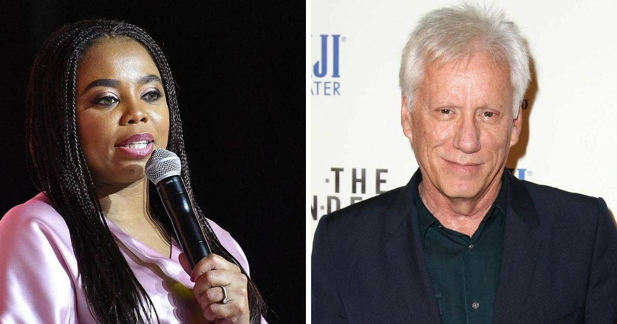 Liberal commentator Jemele Hill, left; and conservative actor James Woods, right.