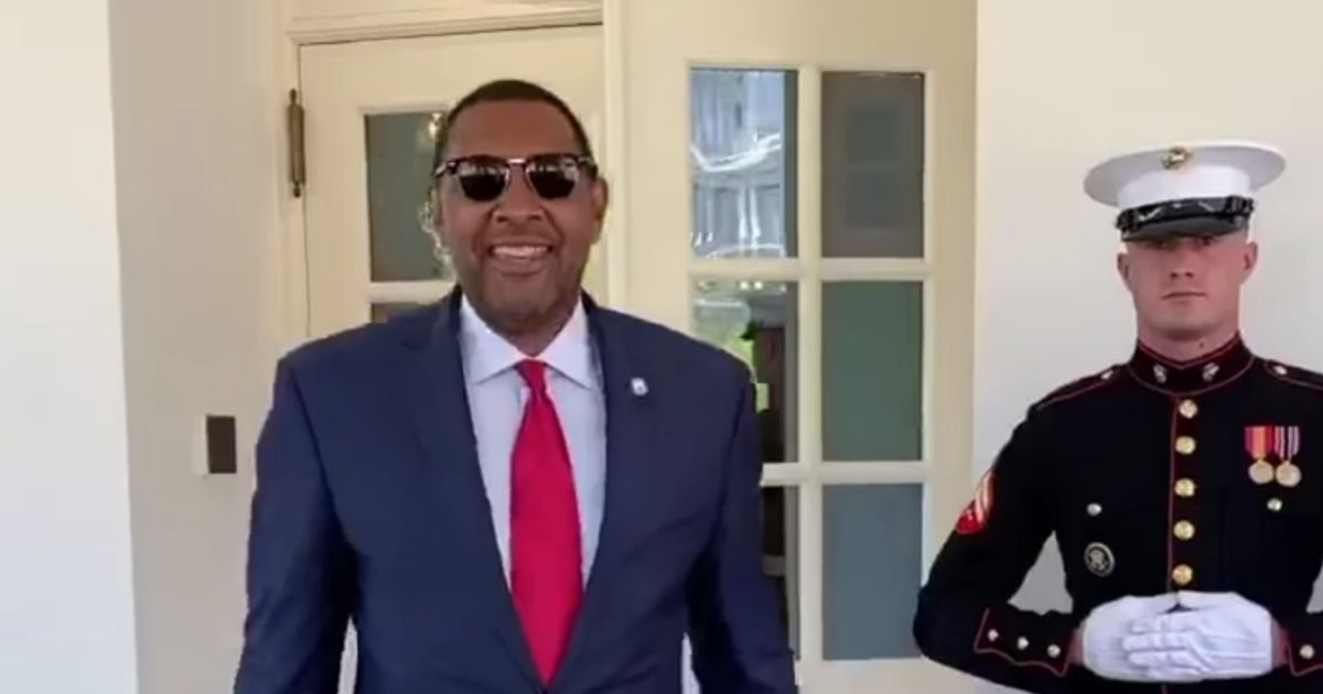 Democratic Georgia state Rep. Vernon Jones, left, will be speaking at the Republican National Convention on Aug. 24.