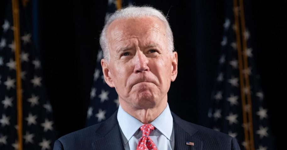 Former Vice President Joe Biden, now the Democratic presidential nominee, speaks about the coronavirus at a media event in Wilmington, Delaware, on March 12, 2020.