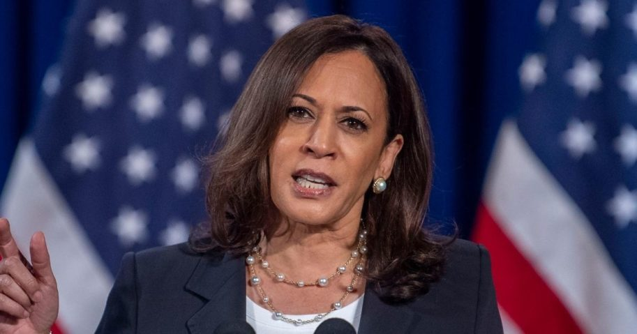 California Sen. Kamala Harris, the Democratic Party's vice presidential nominee, speaks in Washington, D.C., on Aug. 27, 2020.