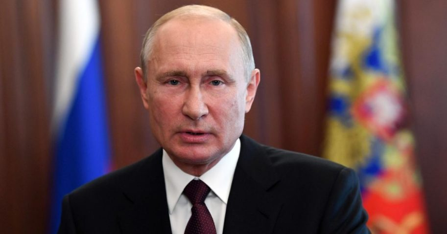 Russian President Vladimir Putin speaks in Moscow on June 27, 2020.