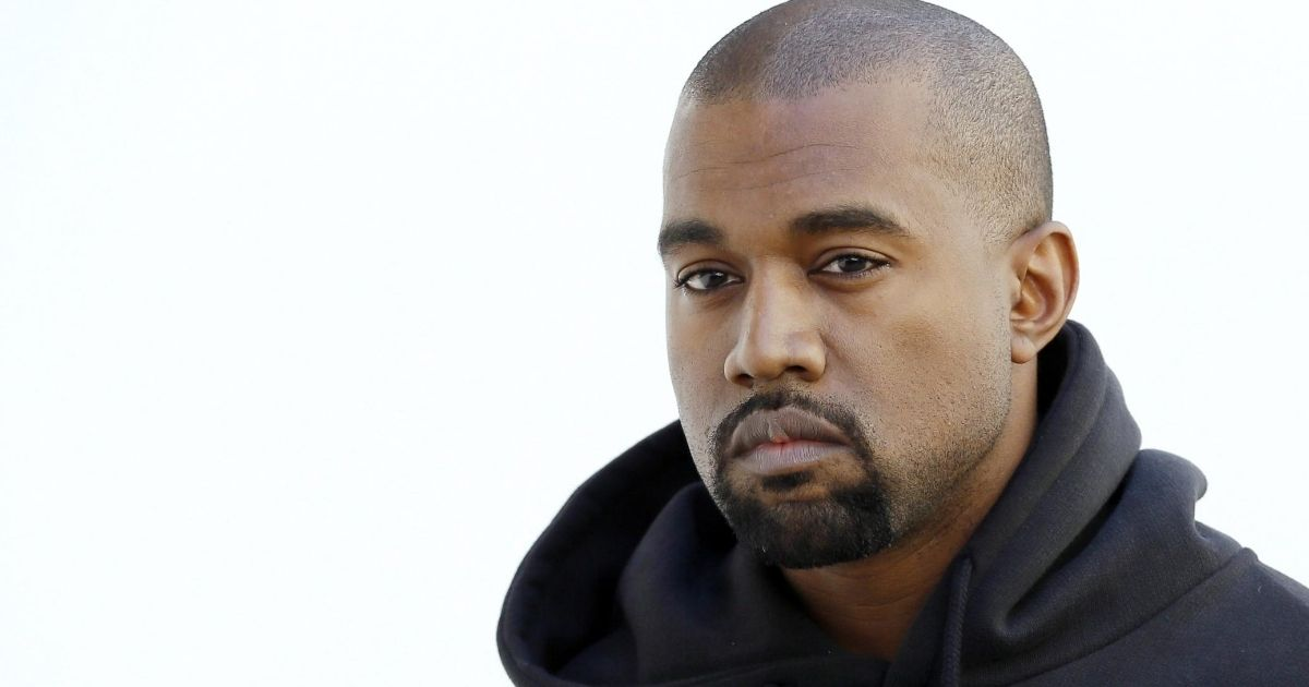 Kanye West, who recently tweeted about the need for a cleaned-up version of TikTok, is seen above.