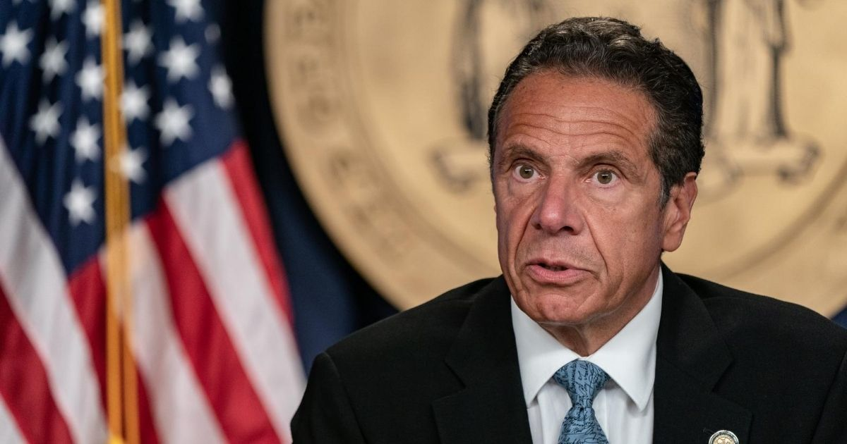 New York Gov. Andrew Cuomo speaks during a daily media briefing on July 23, 2020, in New York City.