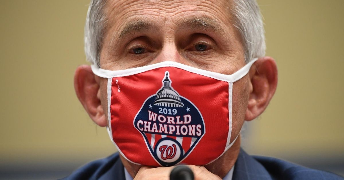 Dr. Anthony Fauci, director of the National Institute for Allergy and Infectious Diseases, testifies before the House Subcommittee on the Coronavirus Crisis on July 31, 2020, in Washington, D.C.