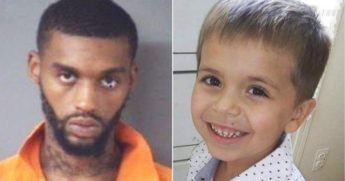Darius N. Sessoms, left, is charged in the murder of 5-year-old Cannon Hinnant, right.