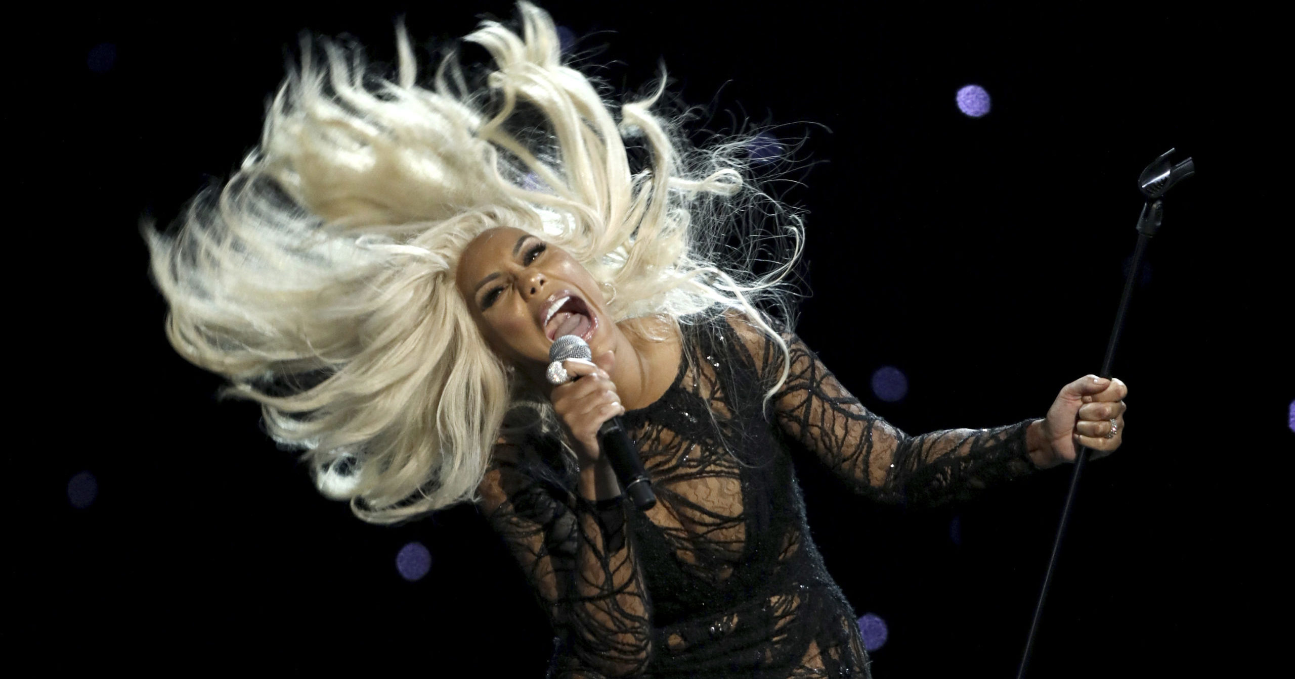"""Tamar Braxton performs at the BET Awards at the Microsoft Theater in a June 25, 2017, file photo, in Los Angeles. Braxton is thanking her boyfriend for saving her life after her hospitalization last month. Braxton posted a lengthy message on social media late on Aug. 1, 2020, that paid tribute to David Adefeso being her """"angel on earth."""""""