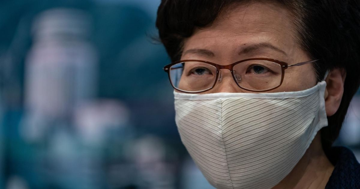 Hong Kong Chief Executive Carrie Lam speaks during a press conference on July 31, 2020, in Hong Kong, China.