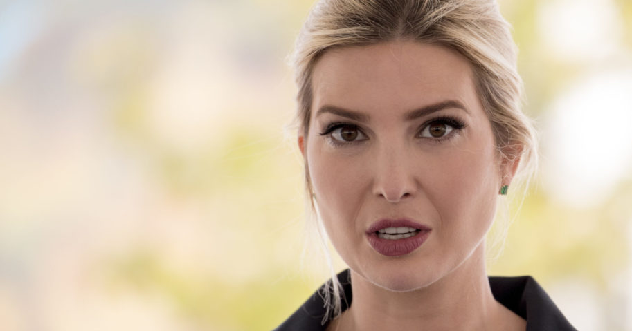 In this May 15, 2020, file photo, Ivanka Trump, daughter of President Donald Trump, speaks in Laurel, Maryland. The Trump administration is awarding more than $35 million in Justice Department grants to organizations that provide safe housing for survivors of human trafficking.