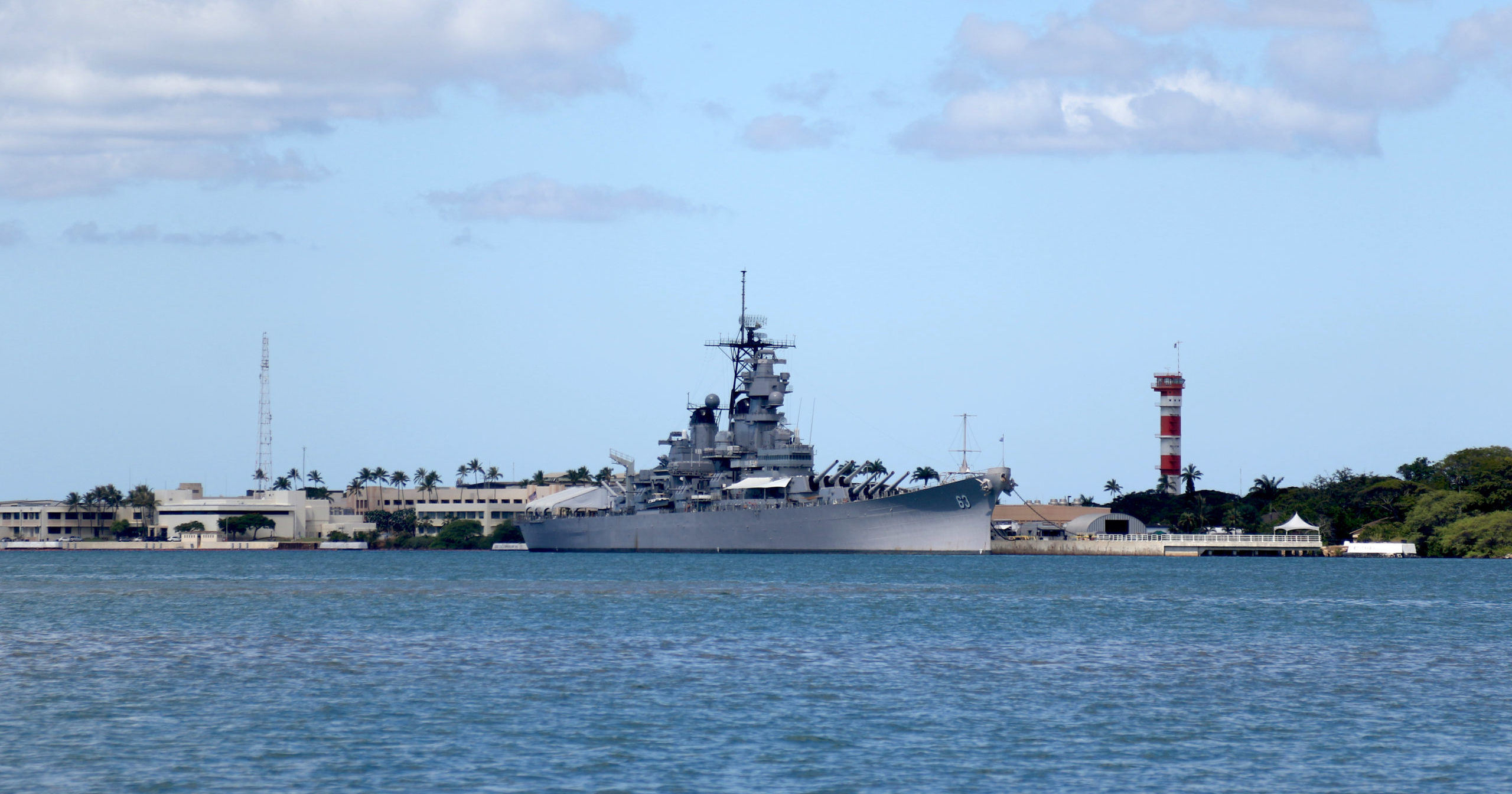 The USS Missouri Memorial is shown in Pearl Harbor, Hawaii, on Aug. 11, 2020.