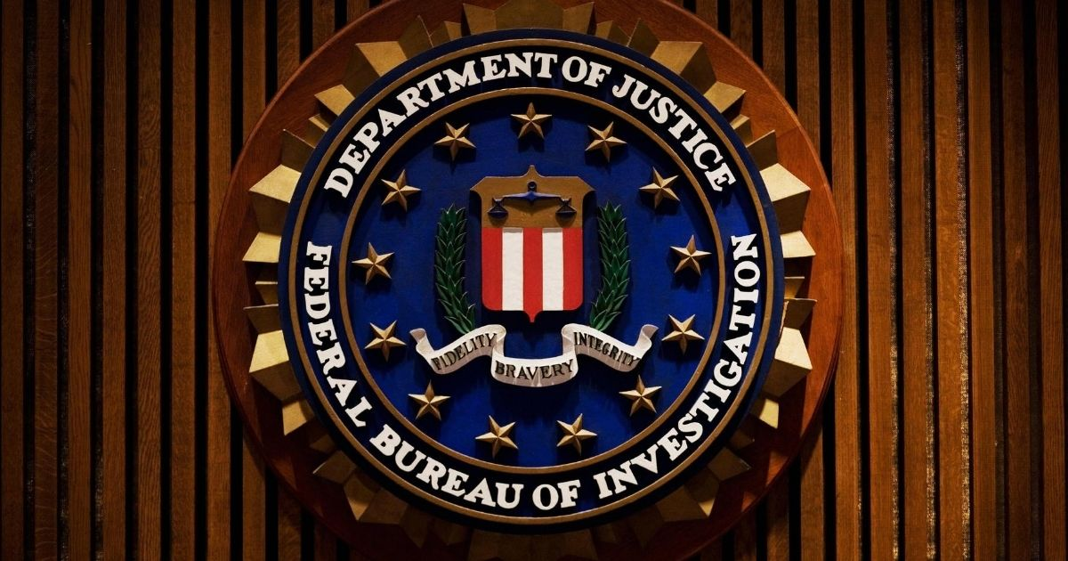 The crest of the Federal Bureau of Investigation is seen inside the J. Edgar Hoover FBI Building in Washington, D.C.