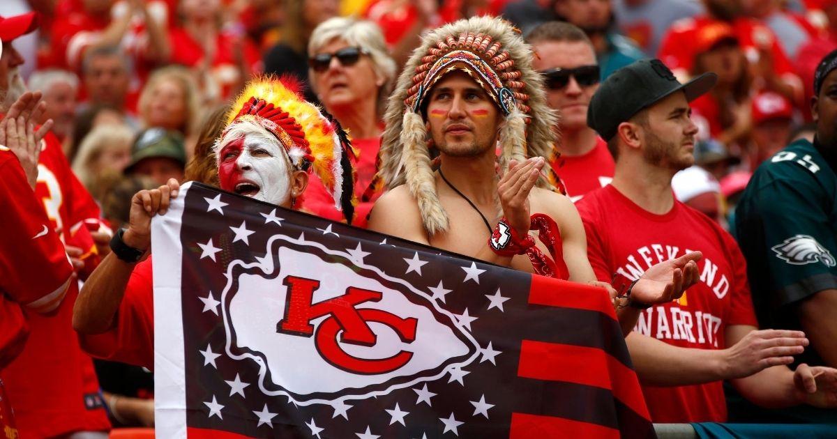 Kansas City Chiefs fans cheer during a game against the Philadelphia Eagles at Arrowhead Stadium on Sept. 17, 2017, in Kansas City, Missouri.