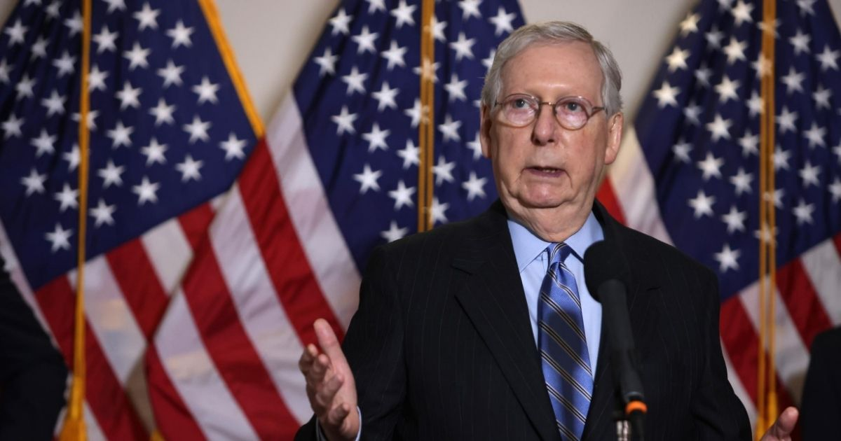 Senate Majority Leader Sen. Mitch McConnell speaks after the weekly Senate Republican Policy Luncheon on Aug. 4, 2020, on Capitol Hill in Washington, D.C.
