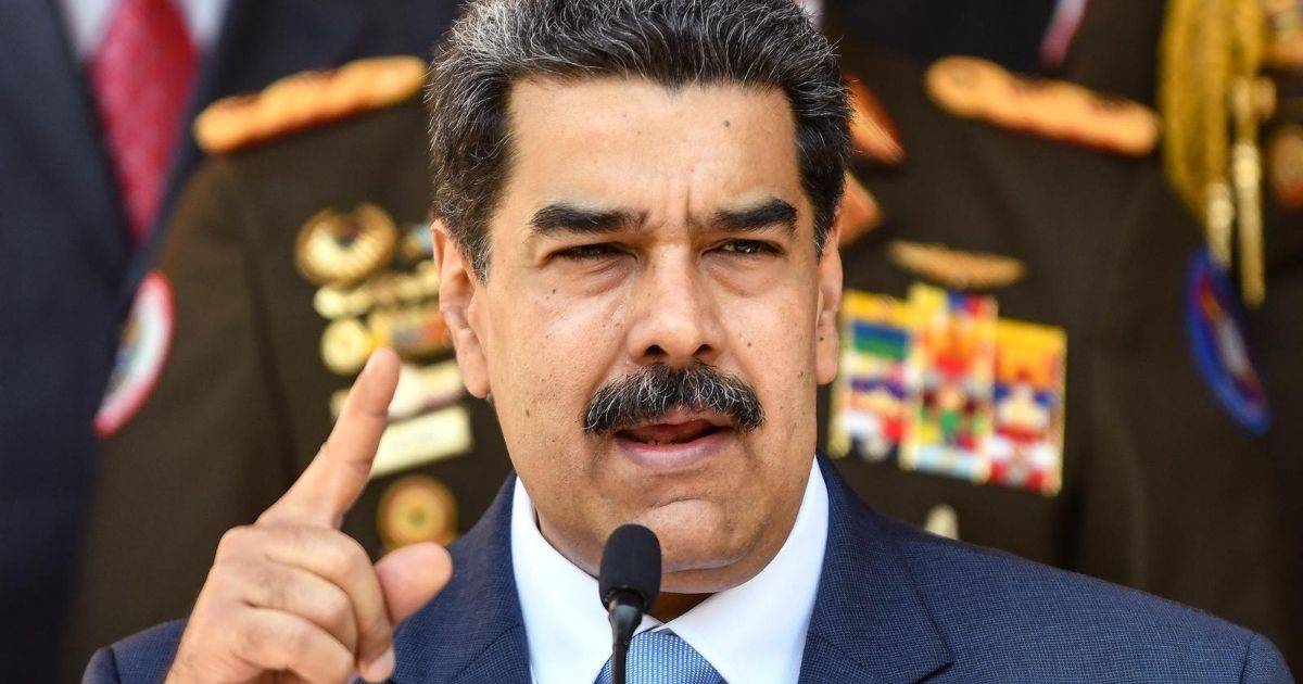 Nicolas Maduro speaks during a news conference on March 12, 2020, in Caracas, Venezuela.