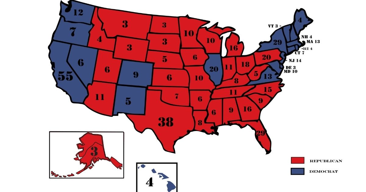 A 2016 electoral map is seen above.