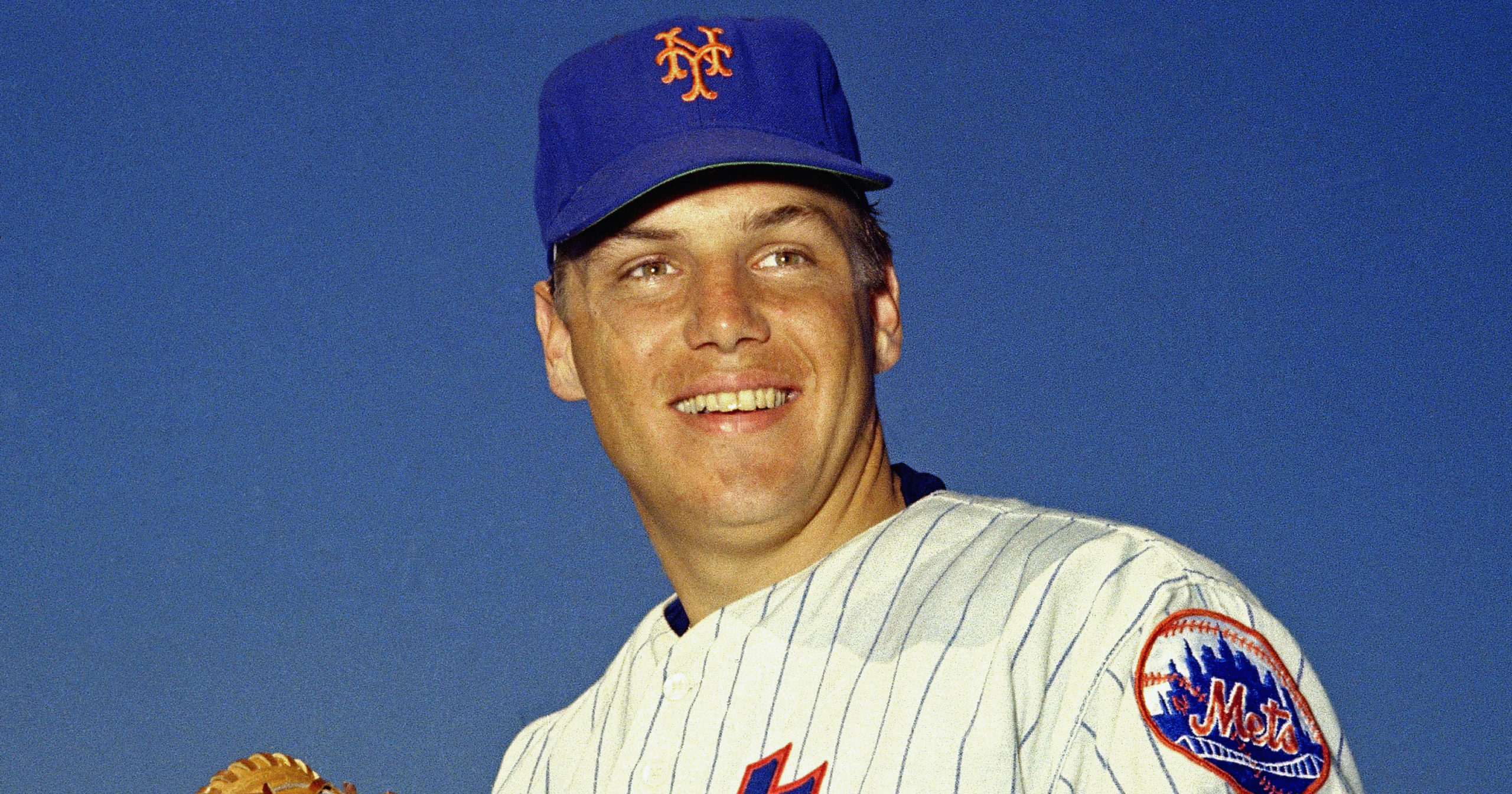 In this March 1968 file photo, New York Mets pitcher Tom Seaver poses for a photo. Seaver, the galvanizing leader of the Miracle Mets 1969 championship team, has died. He was 75. The Hall of Fame said on Sept. 2, 2020, that Seaver died on Aug. 31 from complications of Lewy body dementia.
