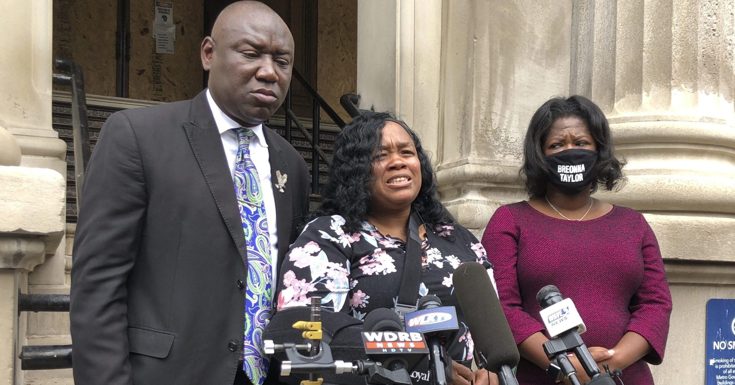 Tamika Palmer, the mother of Breonna Taylor, speaks to reporters in Louisville, Kentucky, on Aug. 13, 2020, five months after her daughter was shot to death by police.