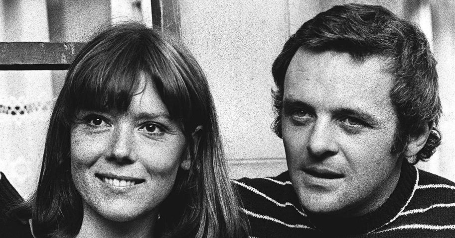 """In this Sept. 20, 1972 file photo, British actress Diana Rigg and actor Anthony Hopkins attend the opening night of """"Macbeth"""" at the National Theatre, London. Rigg, who became a 1960s style icon as secret agent Emma Peel in the TV series """"The Avengers,"""" has died at age 82. Rigg's agent Simon Beresford says she died Sept. 10, 2020, at home with her family."""