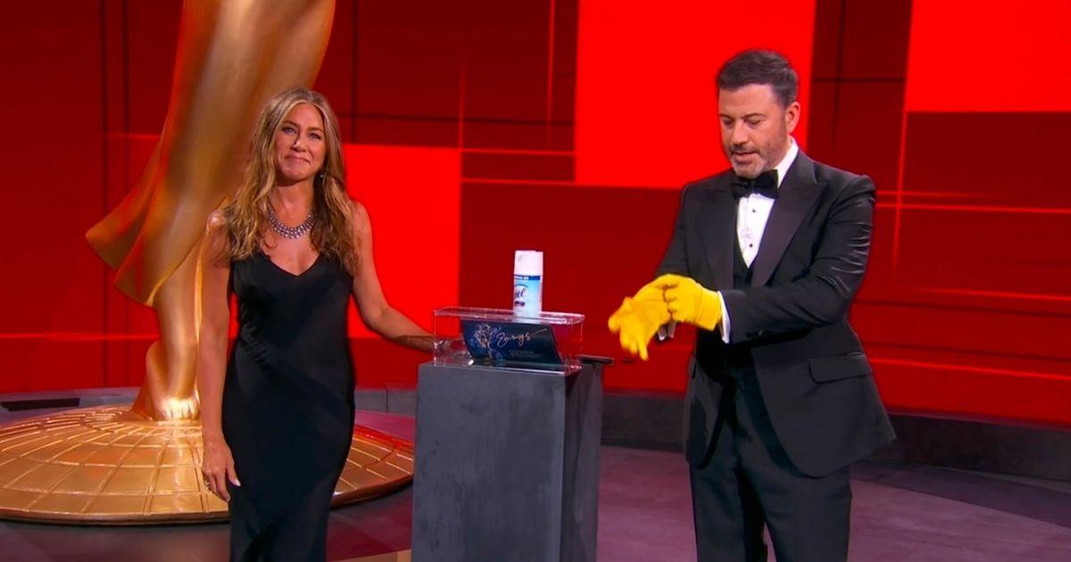 Aniston and Kimmel