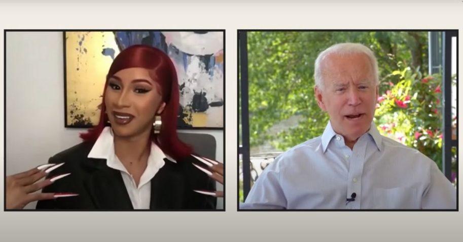 Rapper Cardi B interviews Democratic presidential nominee Joe Biden.