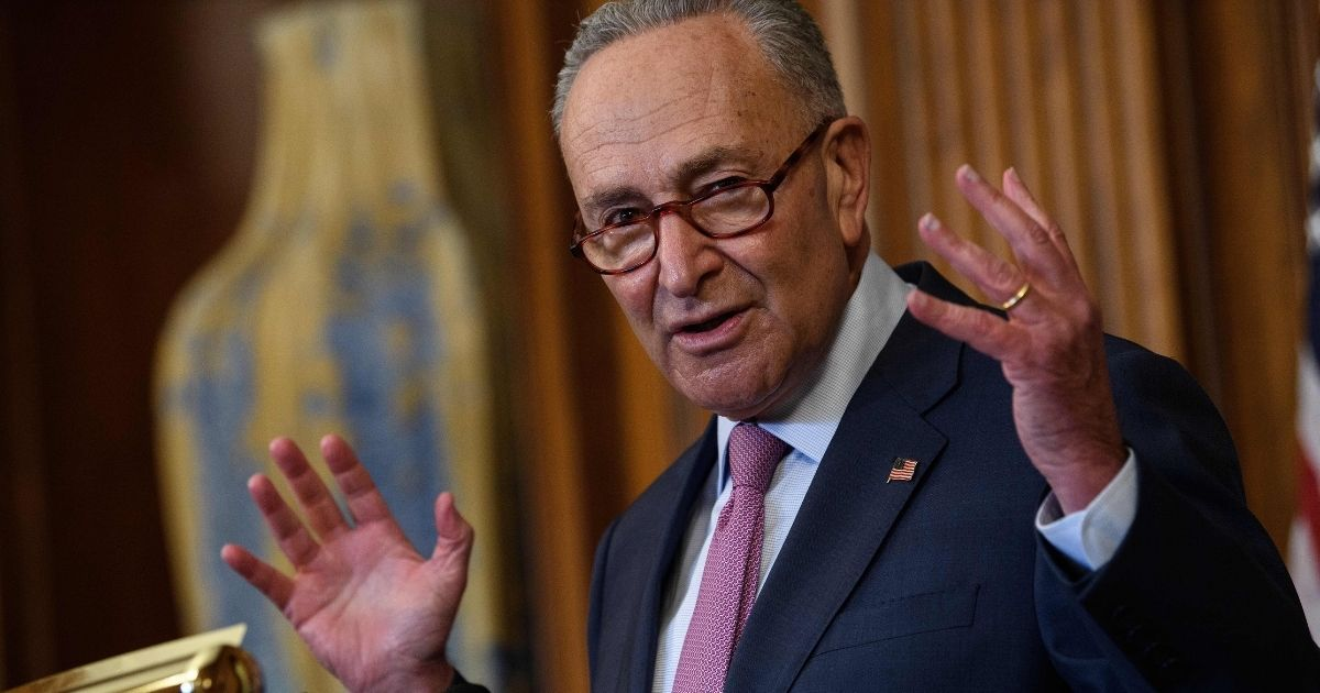 Senate Minority Leader Chuck Schumer speaks at a news conference at the U.S. Capitol in Washington, D.C., on Sept. 17, 2020.