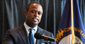 Kentucky Attorney General Daniel Cameron addresses the media following the return of a grand jury investigation into the death of Breonna Taylor in Frankfort, Kentucky on Sept. 23, 2020.