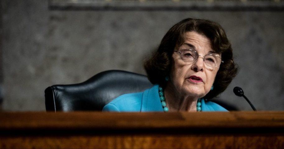 Democratic California Sen. Dianne Feinstein speaks during a Senate Judiciary Committee hearing Aug. 5, 2020.