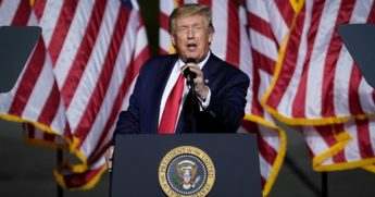 President Donald Trump speaks during a campaign rally Sept. 25, 2020, in Newport News, Virginia.
