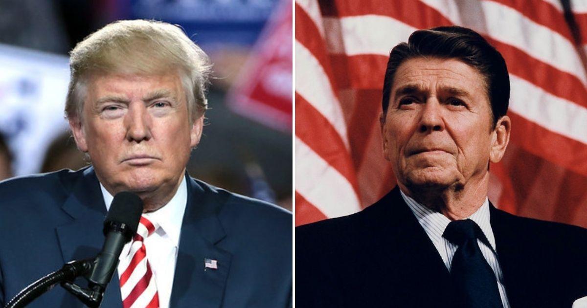 Donald Trump, Ronald Reagan.