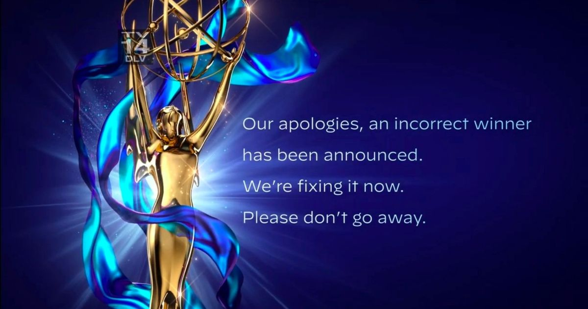 An apology is issued after the winner of the award for outstanding guest actor in a drama series was incorrectly announced during the 2020 Creative Arts Emmy Awards on Saturday.