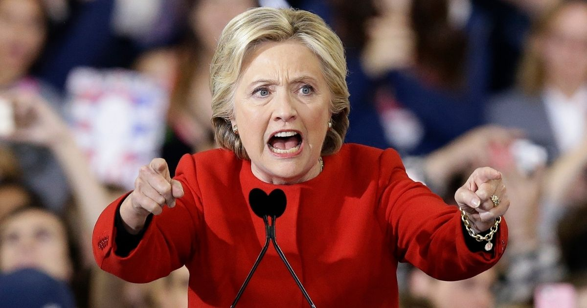 In this Nov. 8, 2016, file photo, then-Democratic presidential candidate Hillary Clinton speaks during a campaign rally in Raleigh, North Carolina.